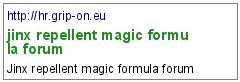 jinx repellent magic formula forum